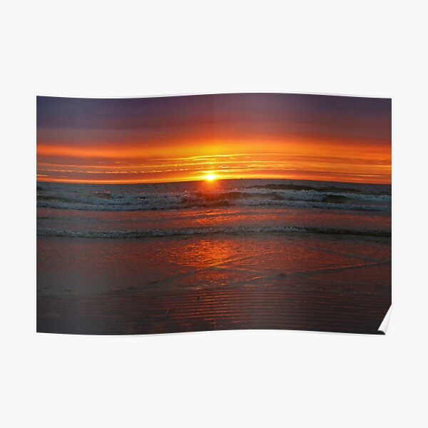 sunset over Trouville Poster