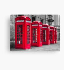 Telephone booths Canvas Print