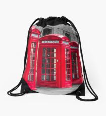 Telephone booths Drawstring Bag