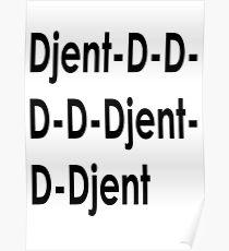 Funny Djent Music Design Poster