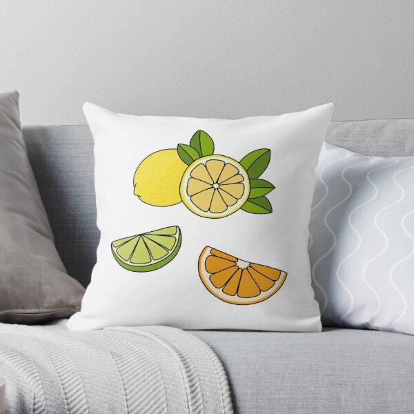 Colourful Citrus Slices Throw Pillow
