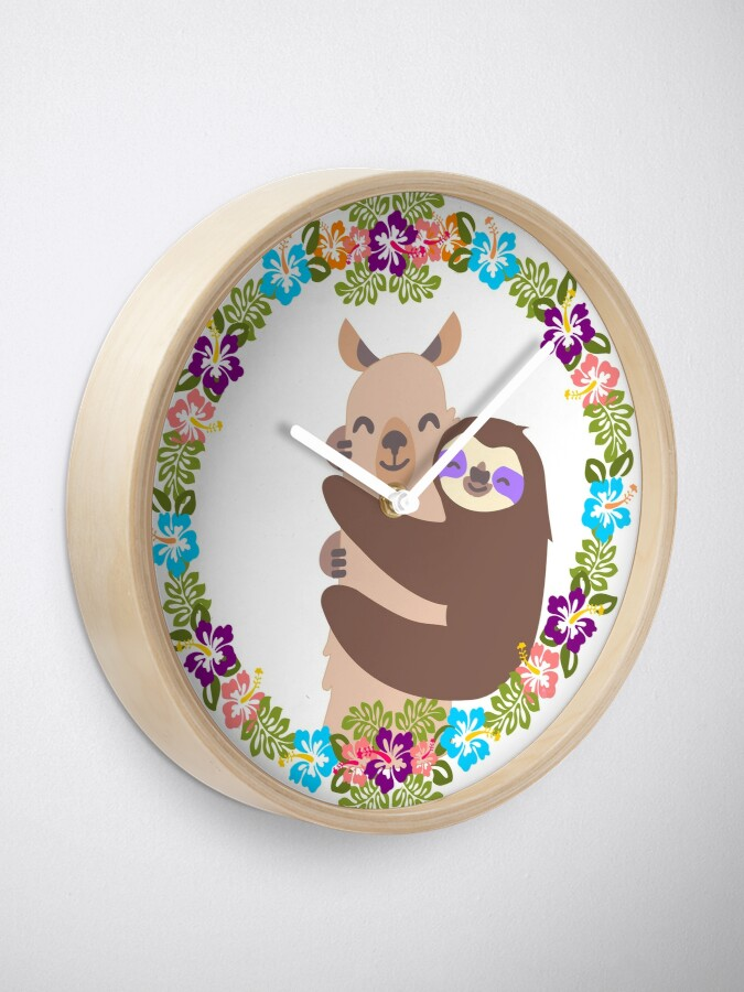 Alternate view of Llama and Sloth Best Friends Forever Clock