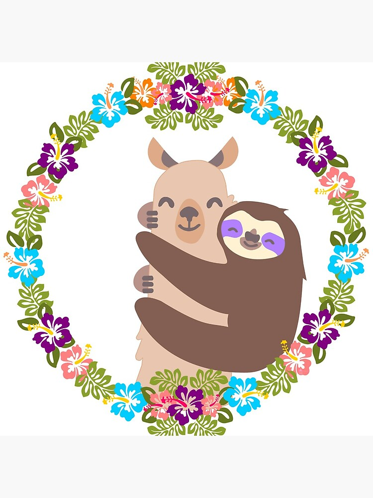 Llama and Sloth Best Friends Forever by evenstarhancock