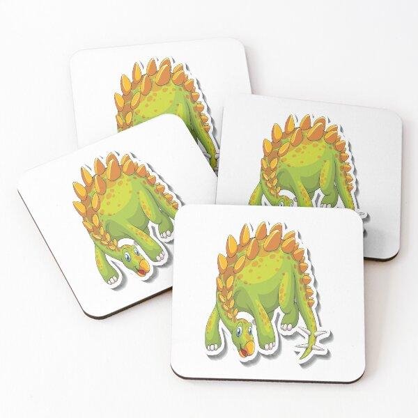 Stegosaurus Dinosaur Coasters (Set of 4)