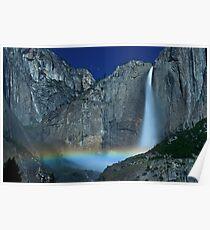 Yosemite Falls Moonbow Poster