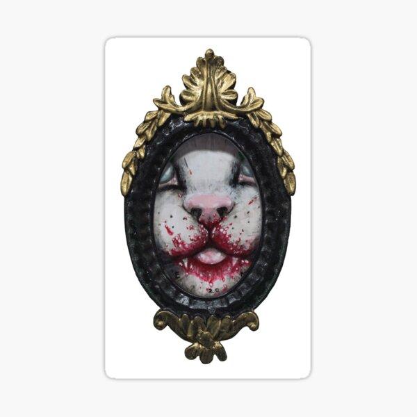Tender kitten in frame 2019 Sticker