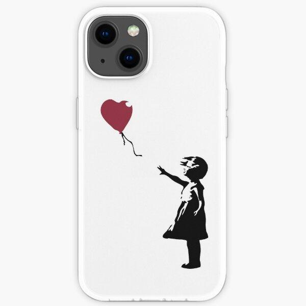 Fille Avec Ballon Rouge, Banksy, Streetart Street Art, Grafitti, Oeuvre, Design Pour Hommes, Femmes, Enfants Coque souple iPhone