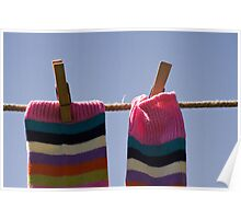 Stripy Socks Poster