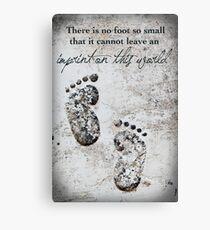 Tiny Footprints Canvas Print
