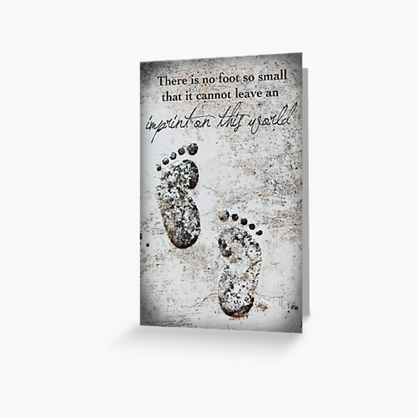 Tiny Footprints Greeting Card