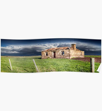 Old Stone Ruin Panorama Poster