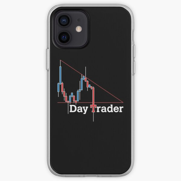 Forex Day Trader - Blue & Red (For Dark Backgrounds) iPhone Soft Case