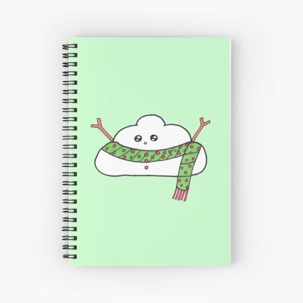 Snowman cloud Spiral Notebook
