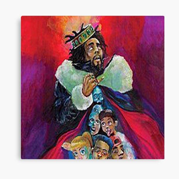 J Cole KOD album cover Canvas Print