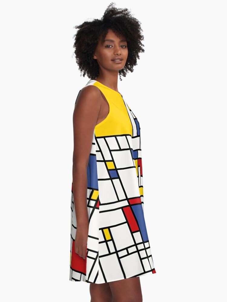 Alternate view of Piet Mondrian A-Line Dress