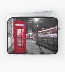 Telephone Booth with Big Ben Laptop Sleeve