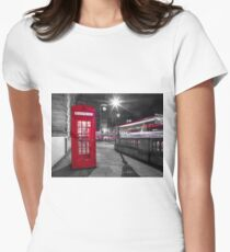 Telephone Booth with Big Ben Women's Fitted T-Shirt