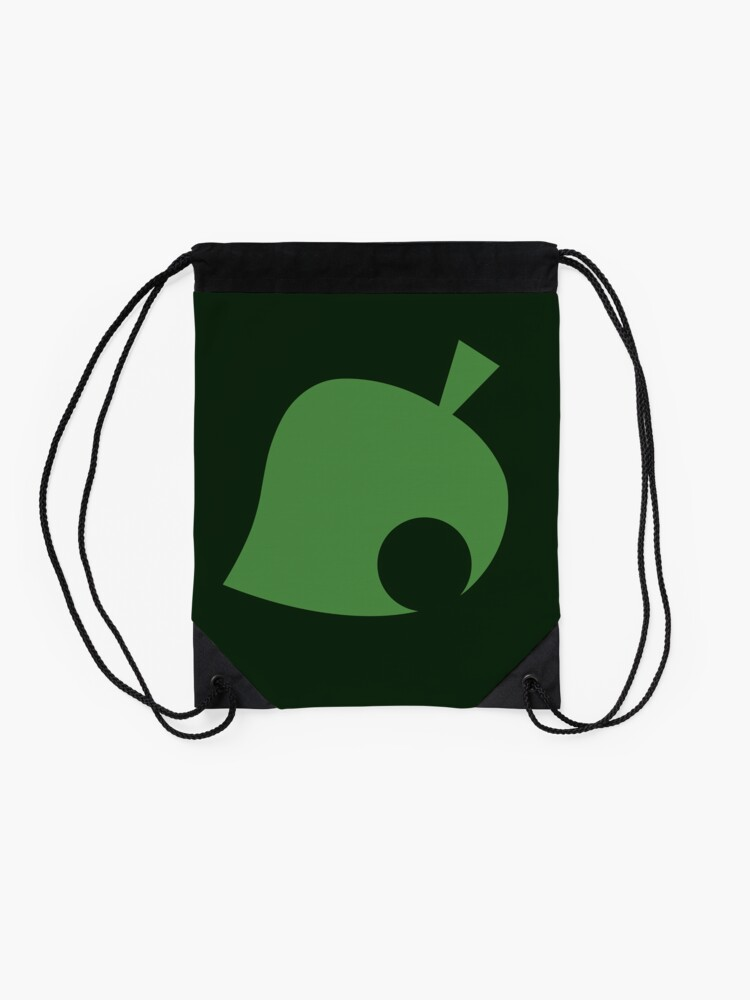 Alternate view of Animal Crossing Leaf Drawstring Bag