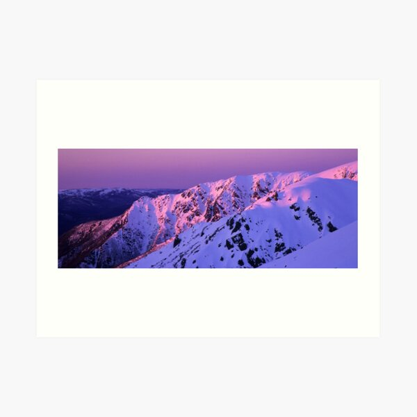 Watsons Crag Sunset Art Print