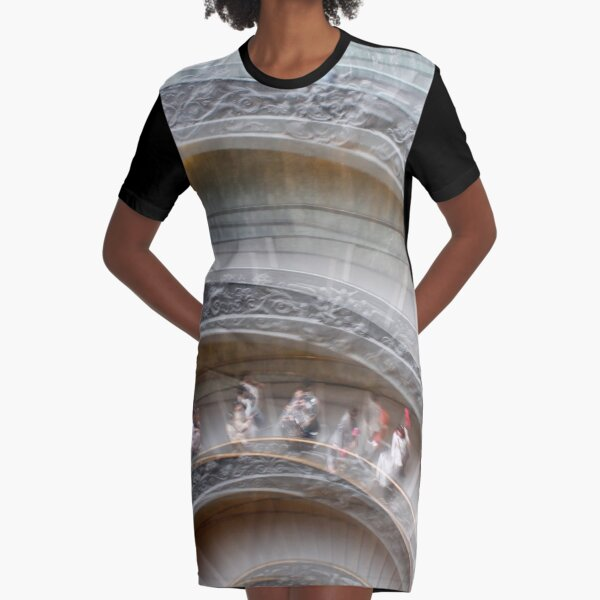 Spiral staircase Graphic T-Shirt Dress