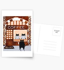 Coffeehouse Cats Postcards