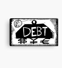Debt Weight Canvas Print