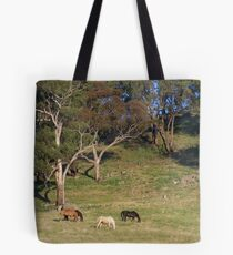 Meanwhile Back On The Farm. Tote Bag