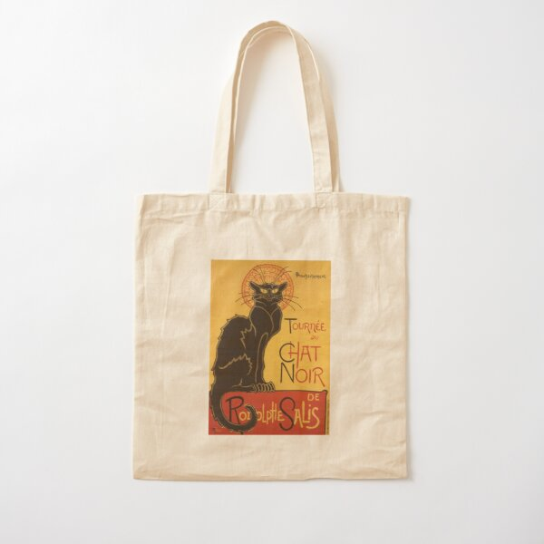 Soon, the Black Cat Tour by Rodolphe Salis Cotton Tote Bag
