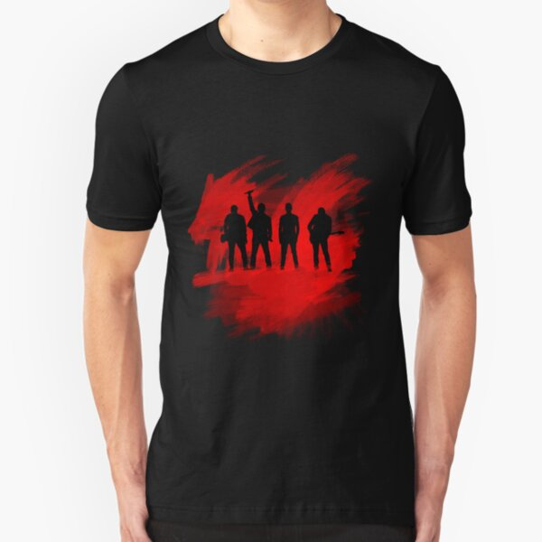 U2 Paint Silhouette Slim Fit T-Shirt