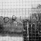 Forgive, Window Grafitti by Melissa Fuller