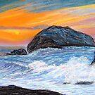 Sunset at Sea by Sesha