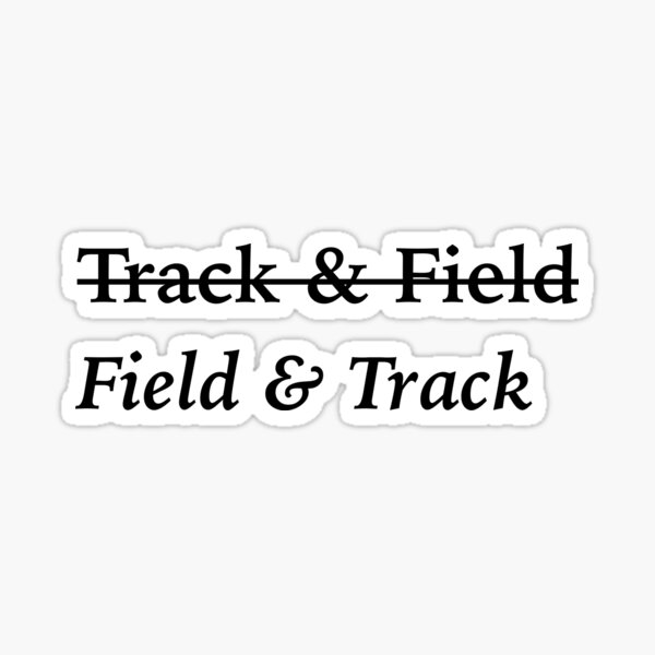 Field and Track Sticker Glossy Sticker