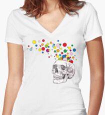 Brain Pop Women's Fitted V-Neck T-Shirt