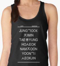 love bangtan /black Women's Tank Top