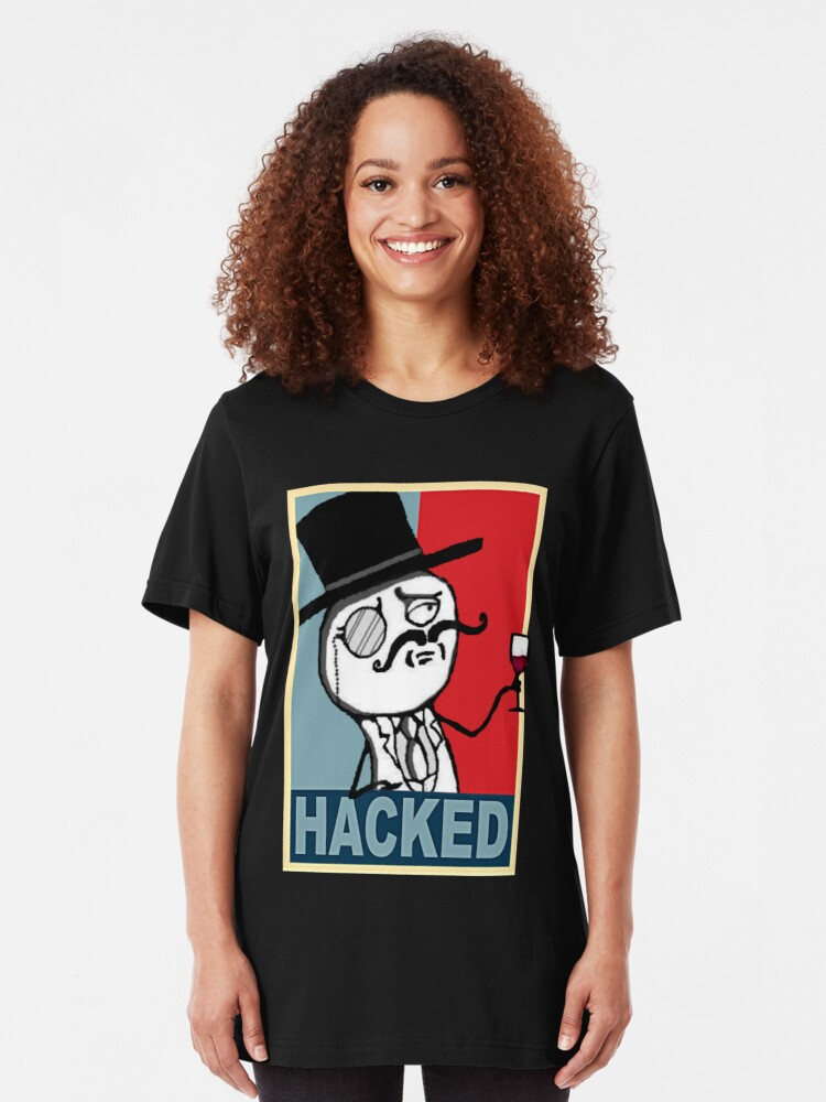 Alternate view of Hacked by LulzSec Slim Fit T-Shirt