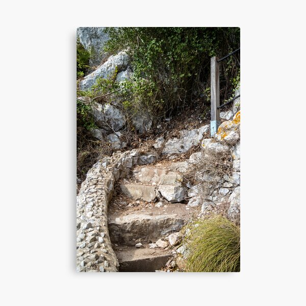 Footpath on the Rock of Gibraltar Canvas Print