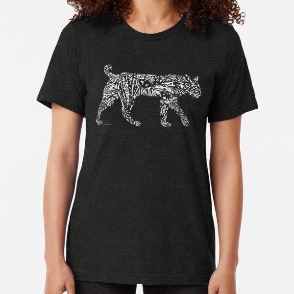 Bobcat Illustration  Tri-blend T-Shirt