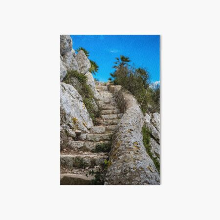 Footpath on the Rock of Gibraltar Art Board Print