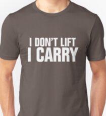 Ich hebe nicht, ich trage - weiß Slim Fit T-Shirt