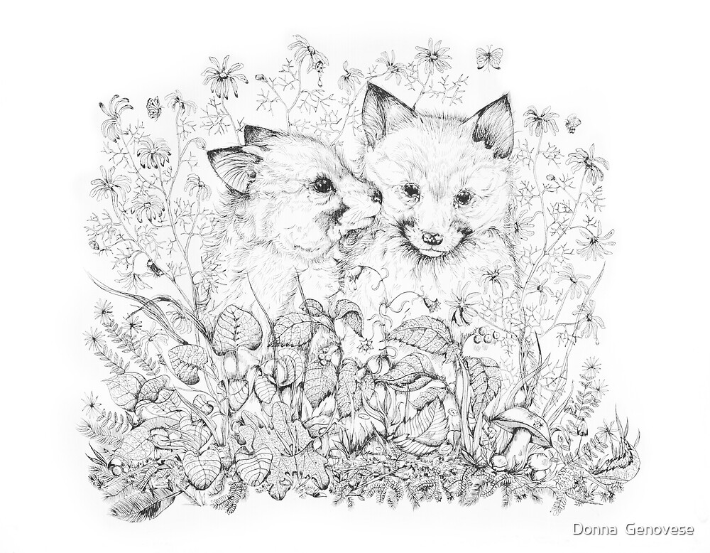 Young Foxes by Donna Genovese