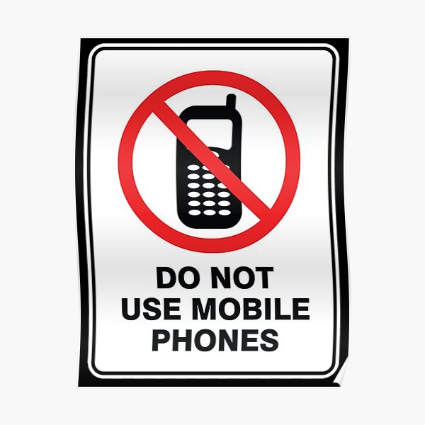 ⭐️ Do not use mobile phones Poster