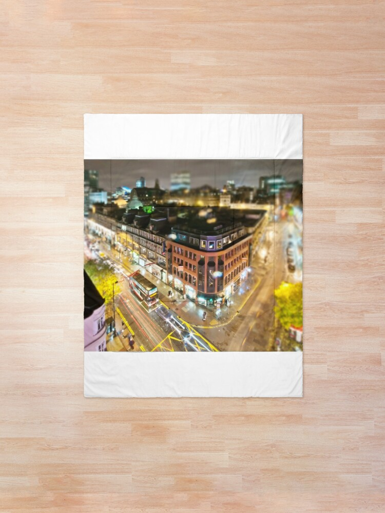 Alternate view of Bright lights of Manchester, tilt and shift. Comforter