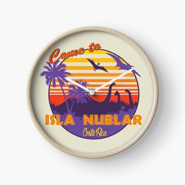 Isla Nublar Dinosaur Sunset Funny Classic Clock