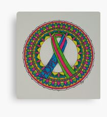 Mandala for Metastatic Breast Cancer Canvas Print