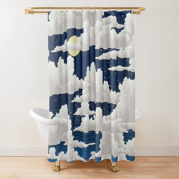 Yellow Moon Shower Curtain