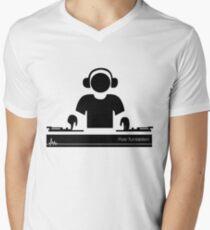 Turntablism Men's V-Neck T-Shirt