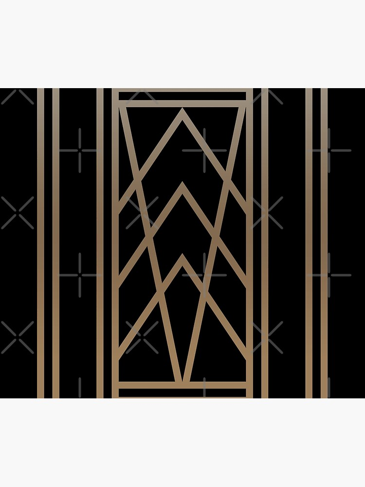Black and Gold Art Deco by AbsentisDesigns