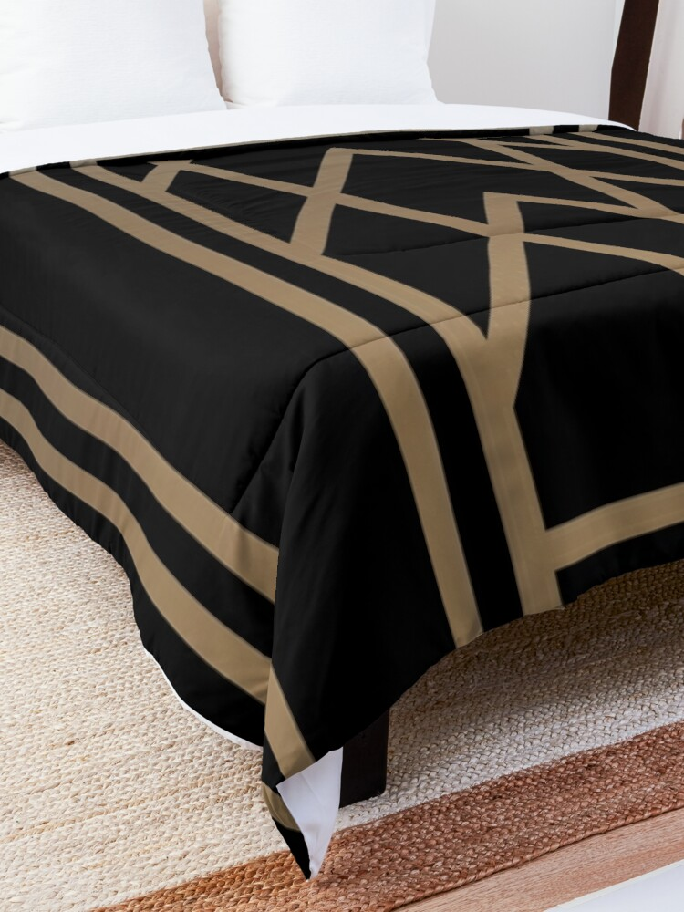 Alternate view of Black and Gold Art Deco Comforter