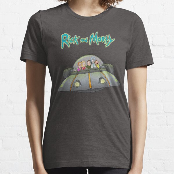 Rick and Morty - Family together flying spaceship Essential T-Shirt