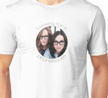 Lana and Bex - Looking for a Phone Booth (Black text) Unisex T-Shirt